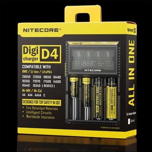 【現貨】D4版奈特科爾NiteCore智能液晶充電器18350 18650 26650鋰電池充電器