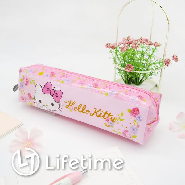 ﹝Kitty亮面長型鉛筆袋﹞正版 鉛筆盒 收納袋 袋子 文具 三麗鷗 凱蒂貓〖LifeTime一生流行館〗