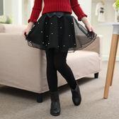 褲裙 時尚兒童打底褲帶裙子公主外穿女童褲裙假兩件秋冬薄絨【小天使】