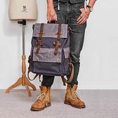 雙肩包  男休閒時尚潮流男包大學生書包旅行大容量雙肩背包 莎瓦迪卡