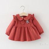 0-1-2-3歲4女寶寶裙子秋裝女童洋裝韓版春秋季洋氣嬰兒公主可愛