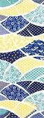 【日本製】【和布華】 日本製 注染拭手巾 藍色 和風扇子花紋圖案 SD-4981 - 和布華