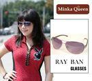 Minka Queen 神秘美感紫色金屬框(抗UV400)時尚個性雷朋太陽眼鏡