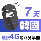 【TPHONE上網專家】韓國網路無限高速4G分享器 7天 一天只要$125