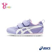 ASICS童鞋 女童運動鞋 機能鞋 MEXICO NARROW MINI 4 魔鬼氈慢跑鞋 亞瑟士 B9168#紫色◆OSOME奧森鞋業