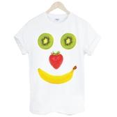 Fruit Smile短袖T恤-白色 微笑水果 香蕉 奇異果 草莓 食物 設計 自創 品牌Gildan 590