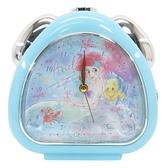 小禮堂 迪士尼 小美人魚 連續秒針三角形鬧鐘 (藍石頭款) 4548626-14134