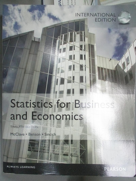 【書寶二手書T4/大學商學_PMV】Statistics for Business and Economics_McCl