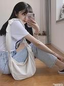 尼龍包 斜背包帆布包尼龍布女學生側背包小眾包包2021新款潮百搭文藝布袋 曼慕
