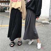 早春新款韓版復古港味chic港風高腰中長款半身裙女學生裙子