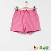 印花輕便短褲02粉色-bossini女童