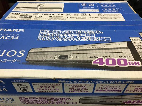 SHARP 二手 DV-AC34 硬碟容量400G 功能正常 日本節目 日本衛星 接收機 機上盒 BS DVD播放