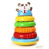 疊疊樂 澳貝熊貓疊疊圈疊疊樂訓練手眼協調禮物聖誕禮物  快速出貨