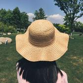出游防曬遮陽帽子女夏季韓版時尚花環草帽女夏小清新大檐太陽帽女 全館免運