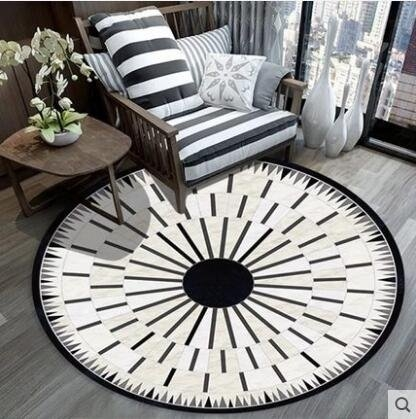 圓形地毯北歐式簡約現代客廳茶几臥室家用墊