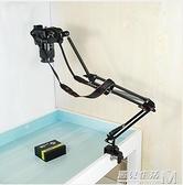 俯拍支架單眼相機架攝像頭監控架子攝影獨腳架桌面床頭投影架