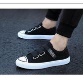 老北京布鞋潮流懶人鞋男士帆布鞋紅色潮鞋百搭鞋