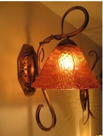 設計師美術精品館歐式複古鐵藝地中海壁燈W8088/1