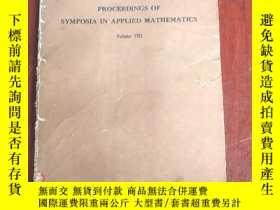 二手書博民逛書店proceedings罕見of symposium in applied mathematics(P3144)