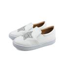 HITO BELLE 懶人鞋 戶外休閒鞋 白色 星星 中童 6372-90 no071