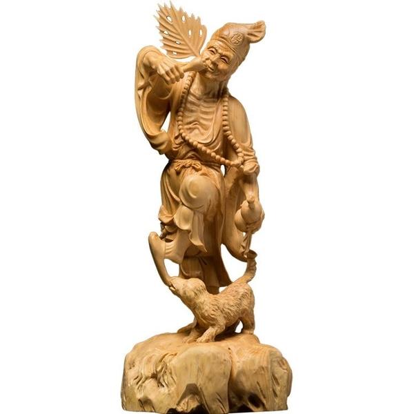 小葉黃楊木雕飾品人物佛像實木擺件雕刻手工藝品活佛百態濟公
