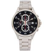 SEIKO 競速時尚感的三眼計時手錶(SKS627P1)-灰黑面X銀色/44mm