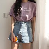 牛仔短褲女夏2018寬鬆韓版百搭水洗高腰顯瘦闊腿褲學生熱褲潮 曼莎時尚