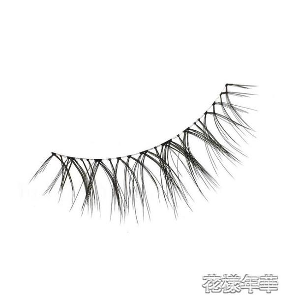 假睫毛 w-7送膠水假睫毛貼女超自然仿真分段式單簇 快速出貨