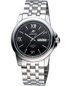 ENICAR 羅馬經典日曆機械腕錶-黑/銀 168-51-326aB