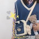 韓國ins小包包可愛少女學生斜背包女 日系原宿風古著感帆布單肩包 3C優購