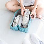 帆布印花鞋包 防水 便攜 出差 旅遊 鞋子收納包 收納袋 防塵 手提 置物 拉鍊【B54-1】♚MY COLOR♚
