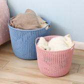 【優選】特大號塑料臟衣籃洗衣籃簍裝衣物籃子4色