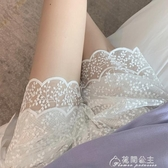 防走光短褲夏季新款韓版鏤空蕾絲高腰打底褲女學生內搭安全褲 花間公主