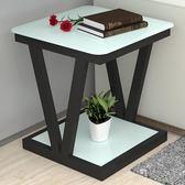 沙髮邊幾客廳簡約小茶幾小方幾玻璃小方桌正方形角幾床頭桌邊角桌 LX 潮人女鞋