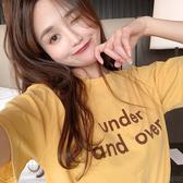 短袖t恤 韓版圓領字母百搭上衣T恤