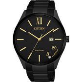 【送米奇電扇】CITIZEN 星辰 光動能520愛戀手錶-金時標/41.5mm BM7357-87E