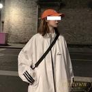 運動外套棒球服女韓版寬鬆沖鋒衣港風春秋【繁星小鎮】