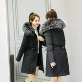 加肥加大女棉服派克200斤胖mm大碼中長款媽媽寬鬆加絨棉衣外套冬 快速出貨