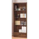【森可家居】北歐工業風積層木2.6尺下抽書櫃 8SB228-5 開放式書櫥 收納 木紋質感 MIT 台灣製造