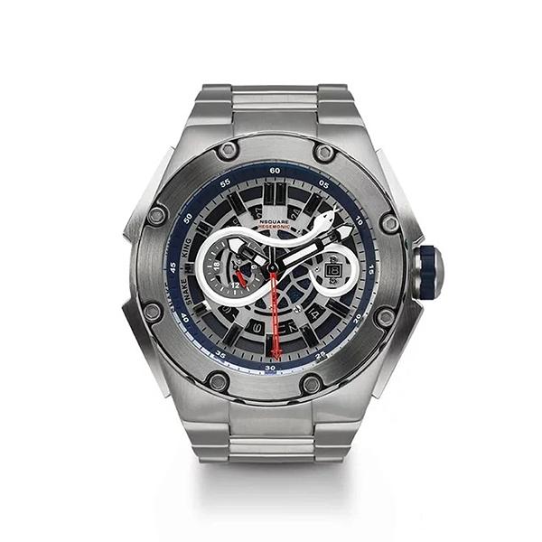 【NSQUARE】SNAKE KING系列時尚立體蛇行潮流腕錶-藍灰款/G0471-N10.6SS/台灣總代理享兩年保固