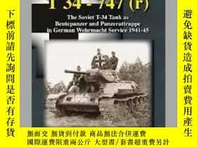 二手書博民逛書店Panzerkampfwagen罕見T 34 – 747(r) (slight damage)-裝甲車T 34–7