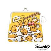 【日本進口正版】蛋黃哥 gudetama 集合款 防震 珠扣包 零錢包 卡片包 三麗鷗 Sanrio - 419394