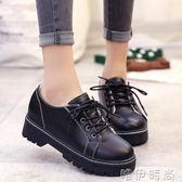 小皮鞋 新款單鞋女鞋休閒鞋平底學生小皮鞋英倫風復古百搭韓版潮 唯伊時尚