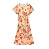 洋裝 219新款碎花洋裝裙大碼女裝寬松顯瘦中老年媽媽裝闊太太過膝文藝 風尚3C