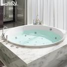 沃特瑪 圓形浴缸家用成人雙人情侶沖浪按摩壓克力嵌入式浴池恒溫