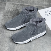 冬季男鞋雪地靴高筒一腳蹬東北棉鞋防水保暖加絨加厚潮鞋馬丁棉靴 伊衫風尚