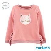 【美國 carter s】可愛貓咪亮片長袖上衣-台灣總代理