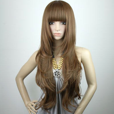 高仿真超自然整頂假髮【MA111】混血天使夢幻甜女孩長捲髮☆雙兒網☆