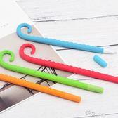 藍果硅膠八爪魚套裝創意造型中性筆 可愛學生水筆文具黑色碳素 道禾生活館