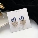 【NiNi Me】耳環 現貨 甜美可愛大小愛心水鑽925銀針耳環 耳環 N0572